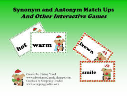what does the fox read synonyms and antonyms plus a freebie