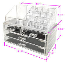 amazon com sodynee jewelry and cosmetic storage 2 piece acrylic