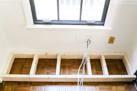 how to build a kitchen cabinet diy window seat from a kitchen cabinet bless u0027er house