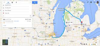 Western Michigan Map by Motorcycle Ride Along The West Coast Of Michigan