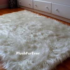 White Fur Area Rug Home Decor Fetching Fur Area Rugs To Complete Faux Sheepskin Rug