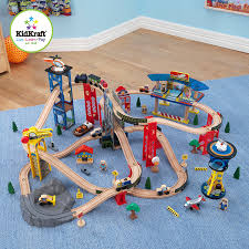 kidkraft super highway train set train sets amazon canada