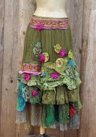 Shabby Chic Skirts by Rosewood Skirt Gypsy Bohemian Romantic Altered Couture Shabby