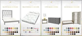 Furniture Set Bedroom Simsational Designs Updated Bayside Bedroom Set