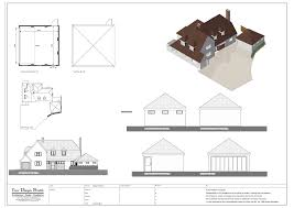 two storey extension design drawings and visualisation slide title