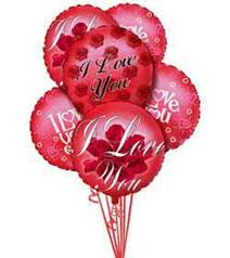balloon delivery mn balloon bouquet i you and mylars
