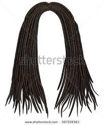 trendy woman long hairs brunette dark stock vector 534687628