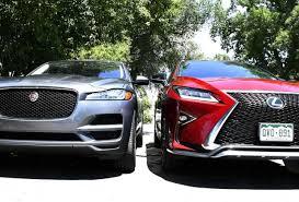 jaguar f pace trunk clash of the suvs jaguar f pace vs lexus rx 350 f sport
