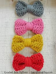 crochet hair bows crochet bow pattern easy peasy tutorial