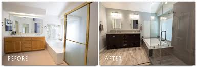 incredible master bathroom remodeling before and after throughout