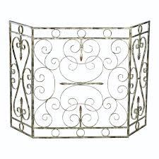 decorative fireplace screen photos