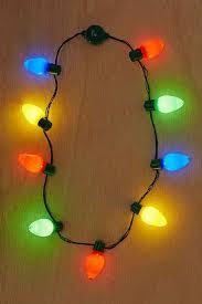 light up bulb necklace holidays