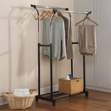 excellent double rolling closet racks roselawnlutheran