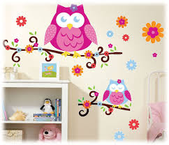 Owl Nursery Wall Decals by Cool Wall Decor Pink And Gray Owl Owl Wall Art Decals Vintage Owl