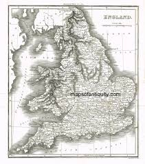 Map England by Antique Maps And Charts U2013 Original Vintage Rare Historical