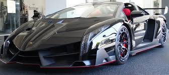 Lamborghini Veneno Back View - lamborghini veneno roadster polish black carbon red leather nero