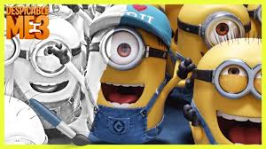 happy minions u2013 despicable me 3 movie coloring pages fun