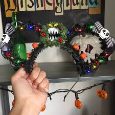 nightmare before christmas inspired mickey ears ig