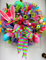 how to make easter wreaths colorful handmade easter wreath designs