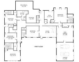 single story 4 bedroom house plans single level home floor plans mesmerizing single story 4 bedroom