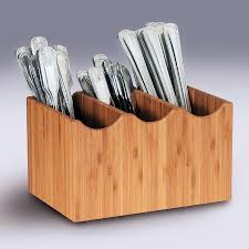 decor cutlery caddy and bamboo flatware holder for silverware