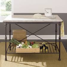 kitchen island marble top kitchen island crate and barrel the practical and