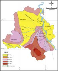 Delhi India Map by Groundwater Environment In Delhi India Pdf Download Available