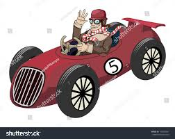 classic cars clip art racer driving old fast race car stock vector 148336097 shutterstock