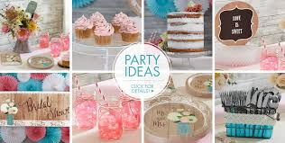 rustic wedding party supplies bridal shower themes bridal
