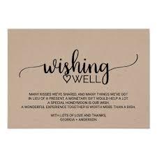 wedding wish card rustic kraft calligraphy wedding wishing well card zazzle