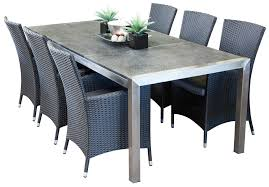 6 seater outdoor dining table stainless steel outdoor dining sets portman 6 seater hamilton and