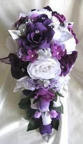 wedding flowers lavender plum purple lavender silver roses and dreams