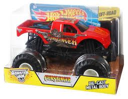 scooby doo monster truck video amazon com wheels monster jam 1 24 scale gunslinger vehicle