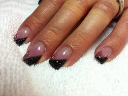 gel nail designs glitter simple nail design ideas 72841