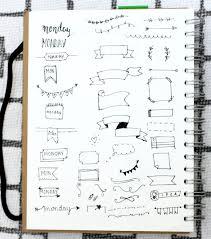 bullet journal header tutorials and inspiration u2014 hannah emily lane