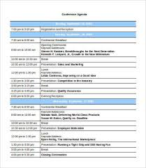 conference agenda template 9 free word pdf documents download