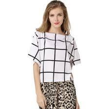Black And White Plaid Shirt Womens Discount Summer Plaid Shirt For Women 2017 Summer Plaid Shirt