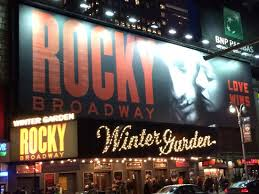 Winter Garden Theater Broadway - outside the winter garden theater picture of rocky broadway new