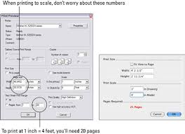 how to print to scale from google sketchup 8 dummies
