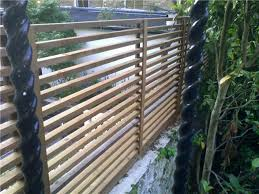 Badminton Trellis Slatted Screen Fencing With Top Rail Google Search Vallas