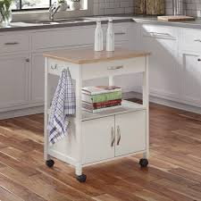 sunjoy buckhead white body with stainless steel top kitchen cart
