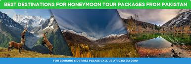 best destinations for honeymoon tour packages from pakistan