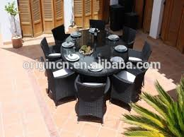 8 Seater Patio Table And Chairs 8 Seater Practical Balcony Rooftop Restaurant Oval Rattan Table