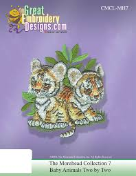 Brother Design Cards Morehead Baby Animals Two By Two Collection 2 Embroidery Designs