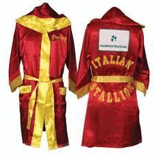 Boxer Halloween Costume Men Rocky Balbo Red Movie Italian Stallion Boxing Robe