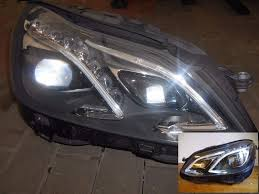 mercedes led headlights pair original left hand drive europe ils led xenon headlights