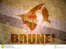 Brunei Map Brunei Vintage Map Stock Photo Image 95497662