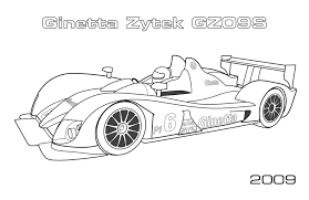 le mans prototypes car coloring pages