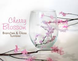 365 designs diy cherry blossom branches glass tumblers