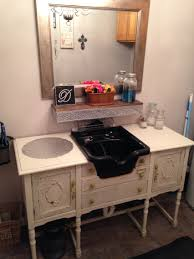 Portable Sink For Hair Salon by Shampoo Bowl Mounted On A Vintage Shabby Chic Buffet Studio